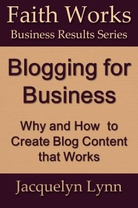 Blogging for Business - Jacquelyn Lynn - Cover