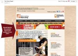 Home Depot AC Summer Offer on Labor Day