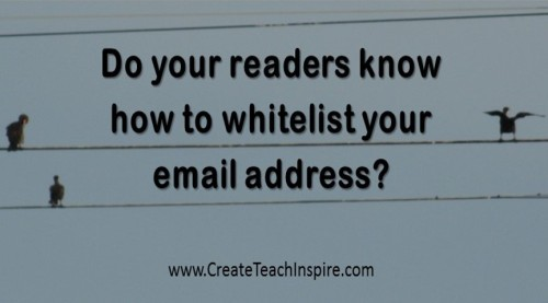 how to put email address on whitelist