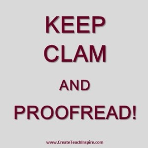 Keep Clam and Proofread Tuscawilla Creative