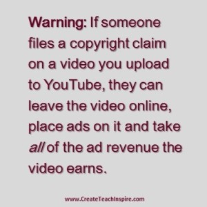 Warning music rights on youtube tuscawilla creative