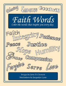 Faith Words Adult Coloring Book - Color the Words that Inspire You Every Day