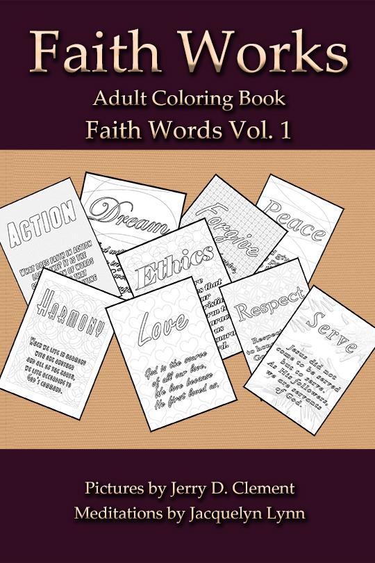 Faith Words - Faith Works Adult Coloring Book