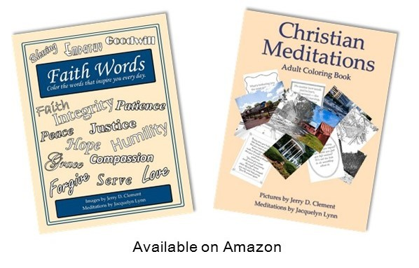 Faith Words and Christian Meditations Adult Coloring Books