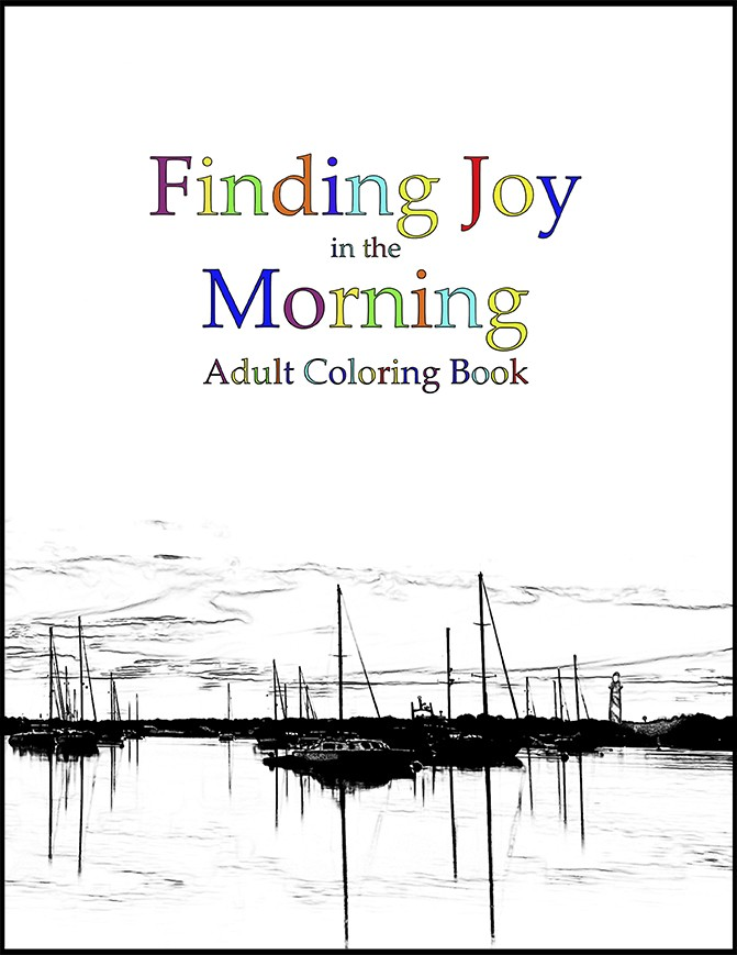 Finding Joy in the Morning Adult Coloring Book cover