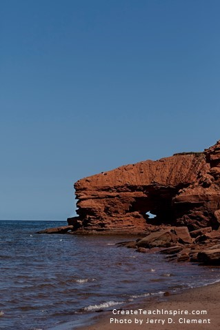 Red Cliffs of PEI, photo by Jerry D Clement