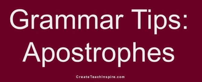Grammar Tips: Apostrophes - Jacquelyn Lynn
