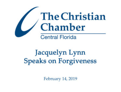 Jacquelyn Lynn Speaks on Forgiveness