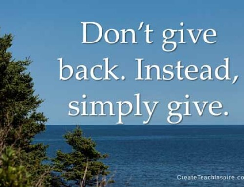 Don't Give Back – Give