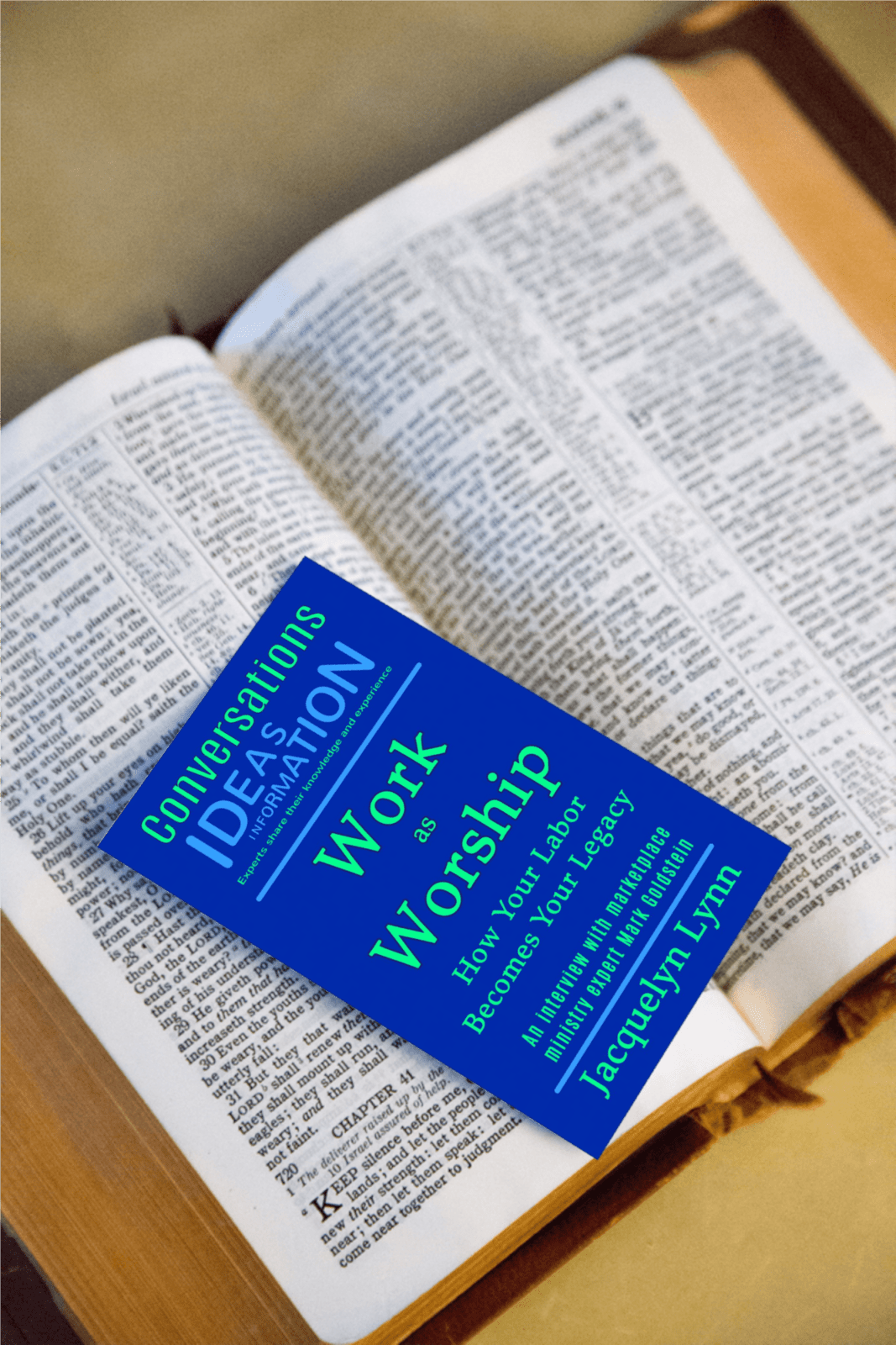 Work as Worship cover with Bible