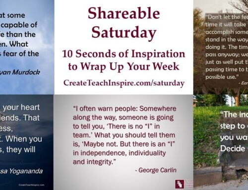 A Reader's Responses to Shareable Saturday